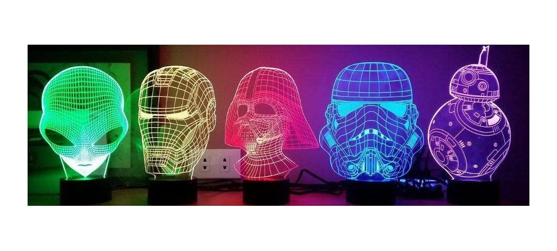 3D Holographic Lamps