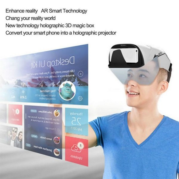 d34f58294fa Augmented Reality Glasses - 3D Projector Headset Box
